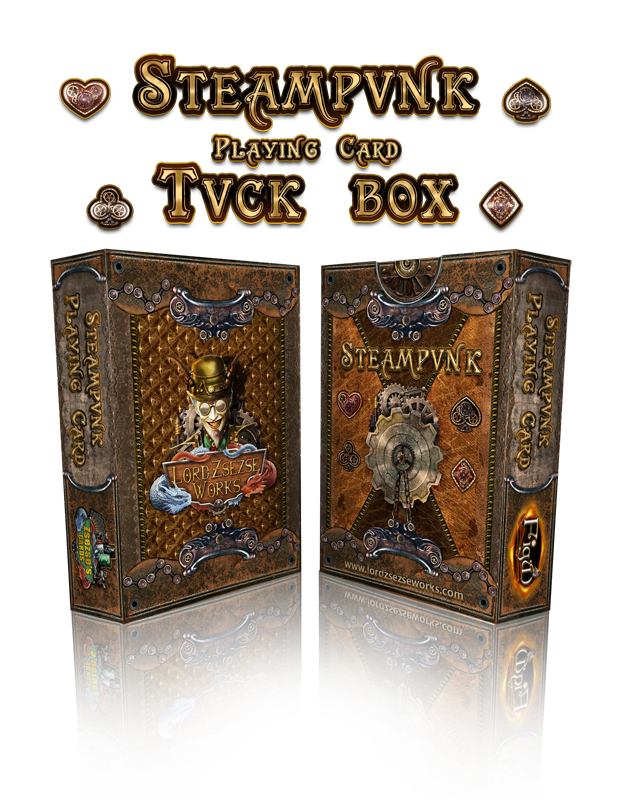 Steampunk Playing Card - Tuck Box sample