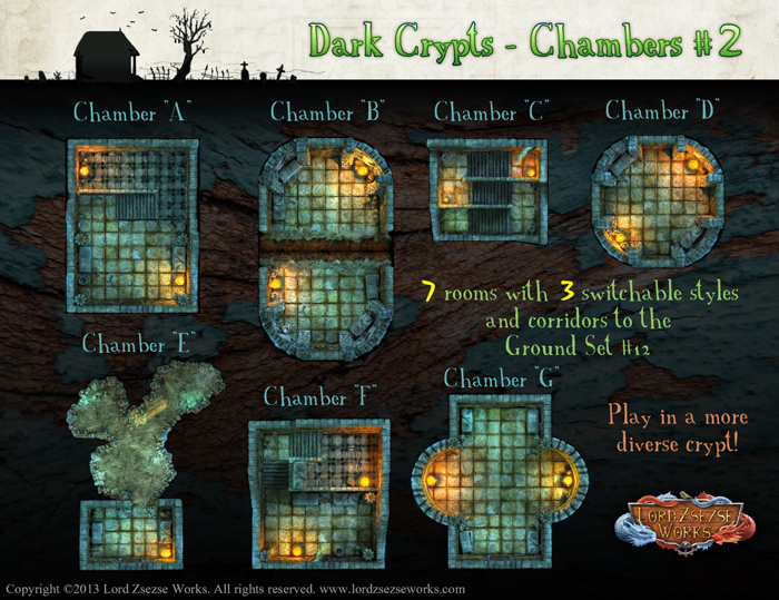 Dark Crypts Chambers Battle maps1