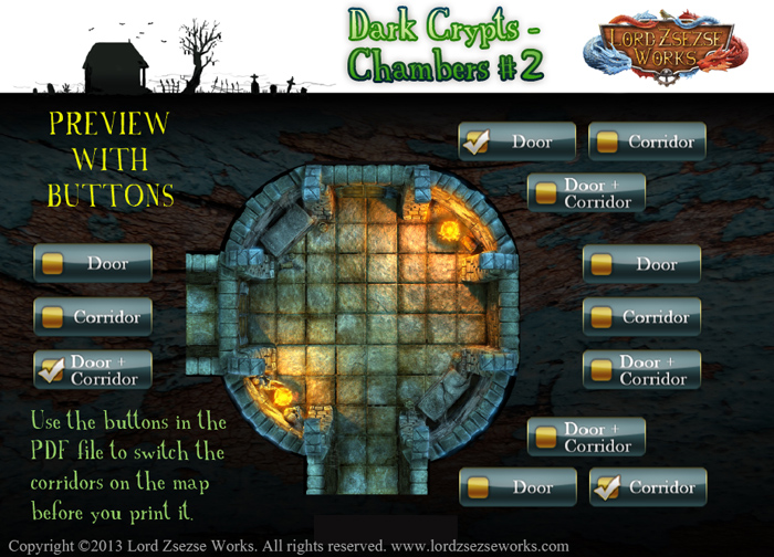 Dark Crypts Chambers Battle maps2