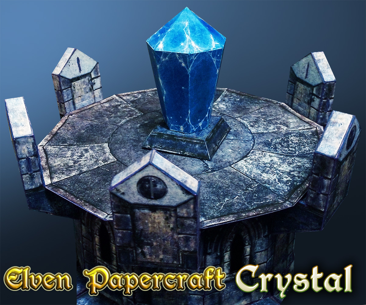 Elven Papercraft - Crystal Expansion - Lord Zsezse Works | Paper models |  Pay What You Want Products | Wargame Vault