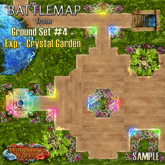 sample ground set 4 Crystal Garden - battlemap