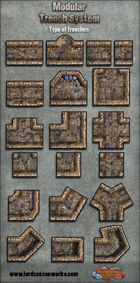 Modular Trench System Tiles